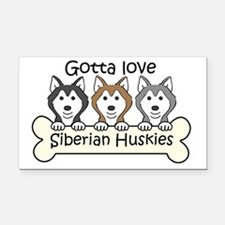 Unique Siberian husky art Rectangle Car Magnet