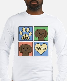 Cute Shihtzu Long Sleeve T-Shirt