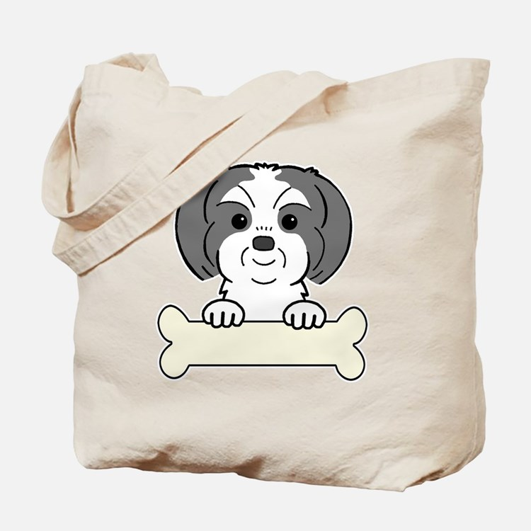 Cute Shih tzu art Tote Bag