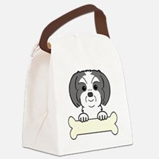 Cute Rescue dog mom mixed breed Canvas Lunch Bag