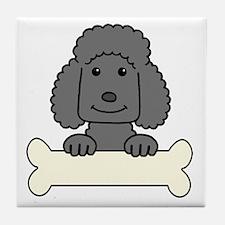 Funny Miniature poodles Tile Coaster
