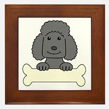 Unique Standard poodle cartoon Framed Tile
