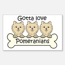 Unique Pomeranian lover Sticker (Rectangle)