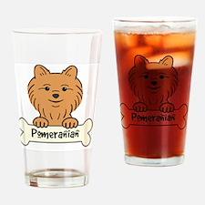 Unique Pomeranian lover Drinking Glass