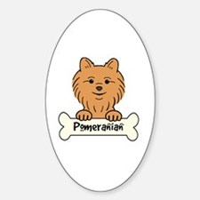 Cute Pomeranian drawing Sticker (Oval)