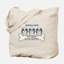Cute Petit basset griffon vendeen Tote Bag
