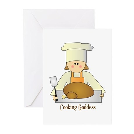 Cooking Goddess Greeting Cards (Pk of 10)