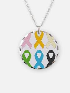 SIx Awareness Ribbons Necklace
