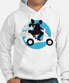 just married couple on scooter Hoodie