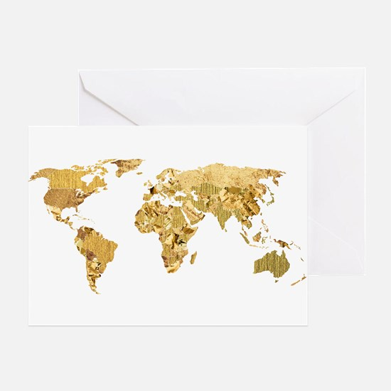 'Golden World' Greeting Card