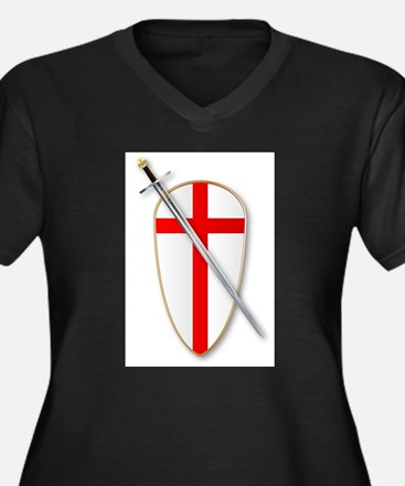 Crusaders Shield and Sword Plus Size T-Shirt