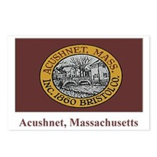 Acushnet MA Flag Postcards (Package of 8)