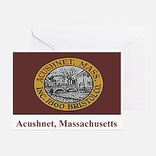 Acushnet MA Flag Greeting Card