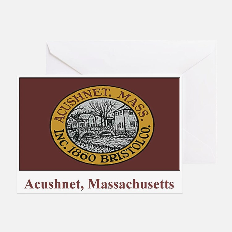 Acushnet MA Flag Greeting Card
