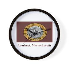 Acushnet MA Flag Wall Clock