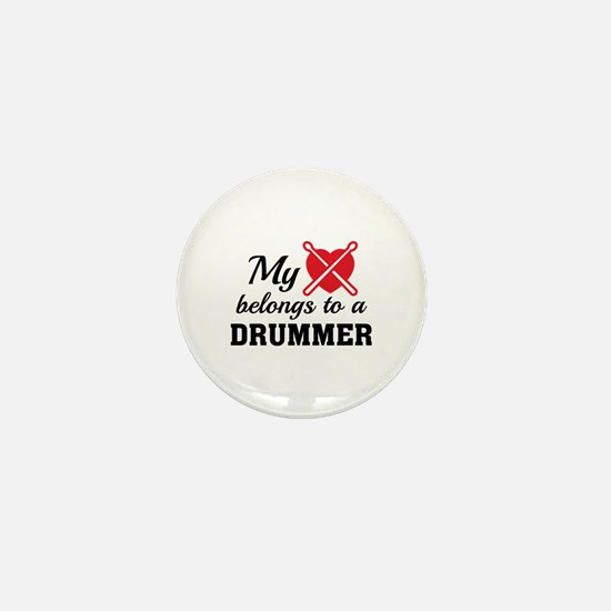 Heart Belongs Drummer Mini Button