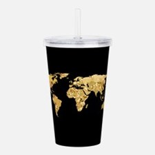 'Gold Foil Map' Acrylic Double-wall Tumbler