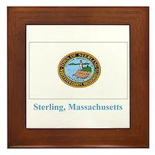 Sterling MA Flag Framed Tile