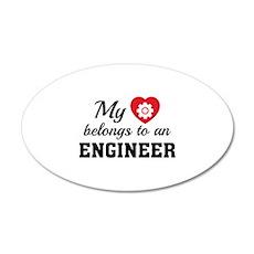 Heart Belongs Engineer 22x14 Oval Wall Peel