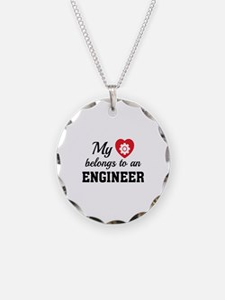 Heart Belongs Engineer Necklace