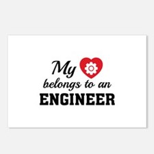 Heart Belongs Engineer Postcards (Package of 8)