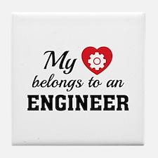 Heart Belongs Engineer Tile Coaster