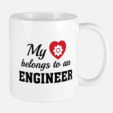 Heart Belongs Engineer Mug