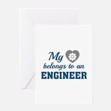 Heart Belongs Engineer Greeting Card