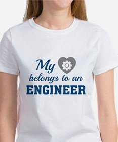 Heart Belongs Engineer Women's T-Shirt