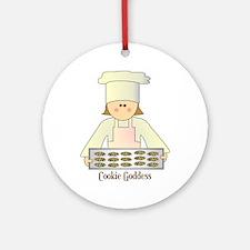Cookie Goddess Ornament (Round)