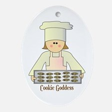 Cookie Goddess Oval Ornament