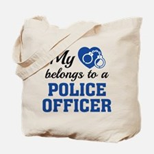 Heart Belongs Police Officer Tote Bag