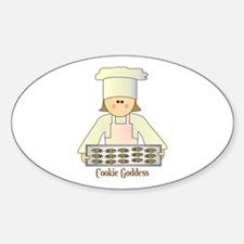 Cookie Goddess Oval Decal