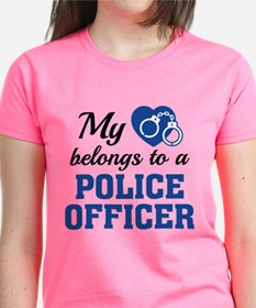Heart Belongs Police Officer Tee
