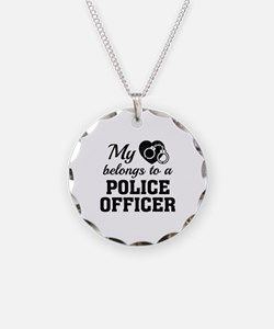 Heart Belongs Police Officer Necklace