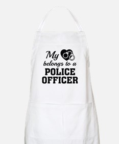 Heart Belongs Police Officer Apron