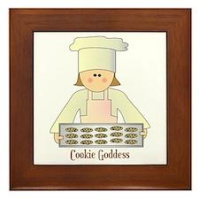 Cookie Goddess Framed Tile