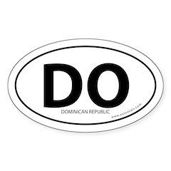 Dominican Republic bumper sticker -White (Oval)