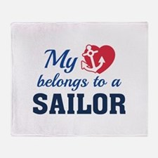Heart Belongs Sailor Stadium Blanket