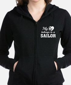 Heart Belongs Sailor Zip Hoodie