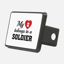Heart Belongs Soldier Hitch Cover