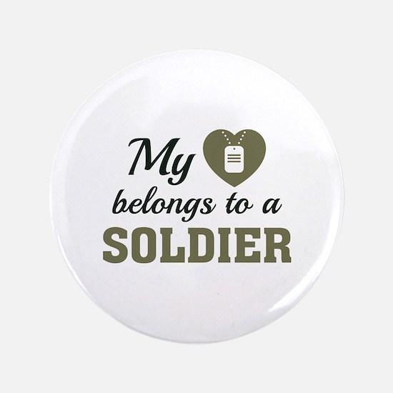 """Heart Belongs Soldier 3.5"""" Button"""