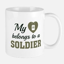 Heart Belongs Soldier Mug