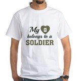 Army girlfriend Mens White T-shirts
