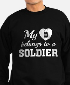 Heart Belongs Soldier Sweatshirt