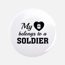 "Heart Belongs Soldier 3.5"" Button (100 pack)"