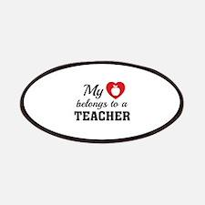 Heart Belongs Teacher Patches