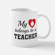Heart Belongs Teacher Mug