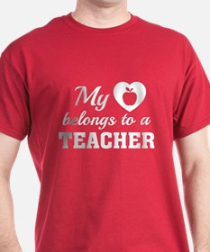 Heart Belongs Teacher T-Shirt