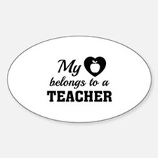Heart Belongs Teacher Decal